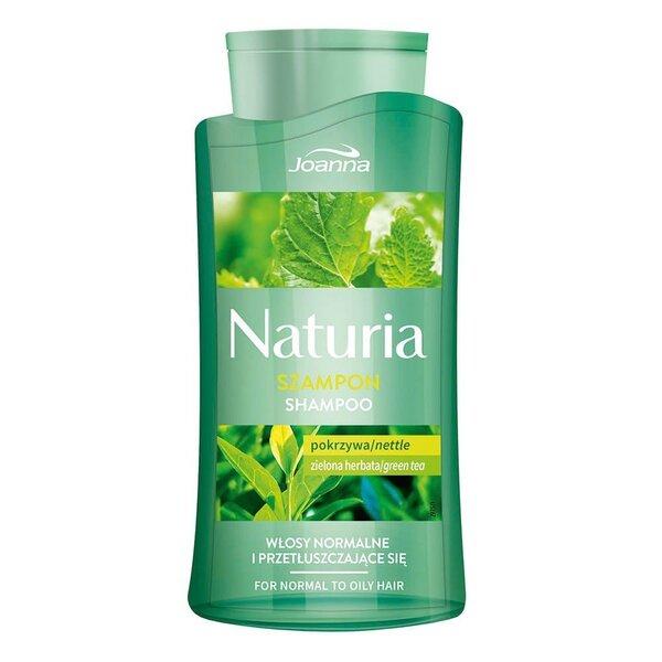 Šampoon rasustele ja normaalsetele juustele nõgese ja rohelise teega Joanna Naturia 500 ml