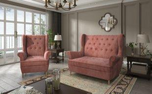 Pehme mööbli komplekt Aros 2+1, oranž