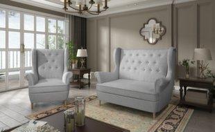 Pehme mööbli komplekt Aros 2+1, helehall