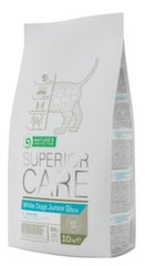 Nature's Protection Superior Care White dogs junior All breed, корм для молодых собак с белой шерстью, 10кг