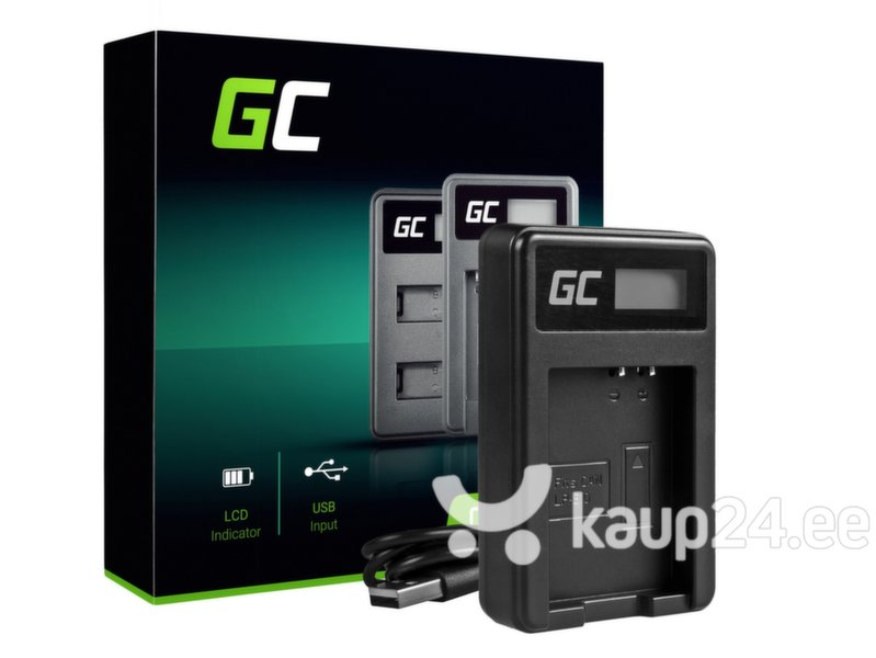 Green Cell Battery Charger LC-E10 for Canon LP-E10, EOS Rebel T3, T5, T6, Kiss X50, Kiss X70, EOS 1100D, EOS 1200D, EOS 1300D