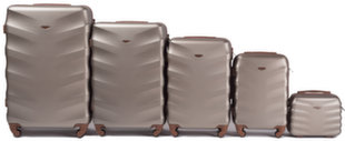 5-osaline kohvrite komplekt Wings 402-5, helepruun
