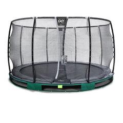 Batuut Exit Elegant Premium koos turvavõrguga Deluxe, läbimõõt 366 cm, roheline