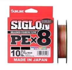 Tamiil SUNLINE Siglon PE×8, 150 m, #0.3 (5 lb) – #3 (50 lb), mitmevärviline