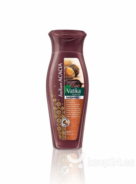Šampoon küpsetele juustele Vatika Naturals Indian Acacia 200 ml