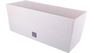 Lillekast RATO WHITE kastmissüsteemiga, 51,4x19,2x18,6 cm, valge