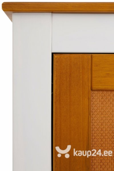 TV-laud Cosmo, valge/pruun
