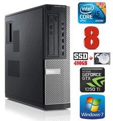 DELL 7010 DT i5-3470 8GB 480SSD+2TB GTX1050Ti 4GB DVD WIN7Pro