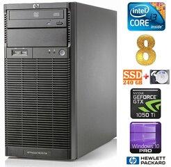 Lauaarvuti HP ProLiant ML110 G6 i3-550 8GB 240SSD+2TB GTX1050Ti 4GB DVD WIN10Pro
