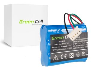 Green Cell Battery for iRobot Braava / Mint 380 380T 5200 5200B 5200C Plus 7.2V 2.5Ah hind ja info | Tolmuimejate akud | kaup24.ee