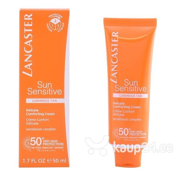 Päikesekaitsekreem näole Sun Face Cream Sun Sensitive Lancaster SPF50 50ml