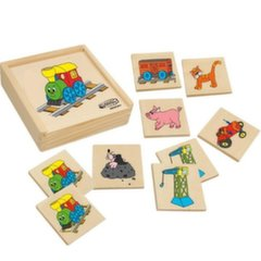Puidust mälu (memo) kaardid Woody, 93002, 36 osa