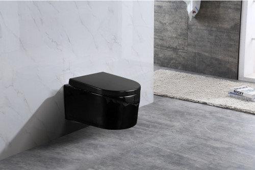 WC-pott Mexen Sofia Black Rimless Duroplast aeglaselt sulguva kaanega hind