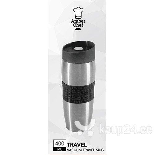 Термо кружка 400 мл TRAVEL черная цена