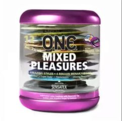 Kondoomid ONE Mixed Pleasures, 12 tk