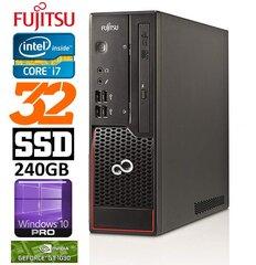 Lauaarvuti Fujitsu Esprimo C710 SFF i7-3770 32GB 240SSD GT1030 2GB DVDRW WIN10Pro