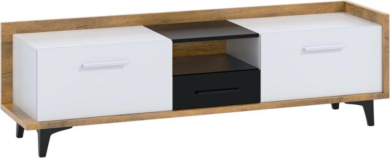 TV-laud Meblocross Box 09 2D1S, pruun/valge
