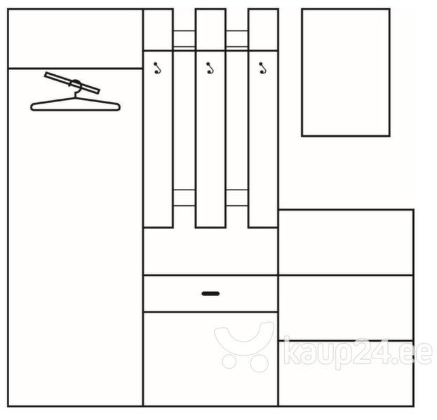 Комплект мебели для прихожей III, коричневый/кремовый