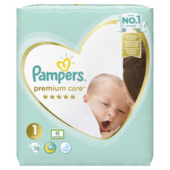 Mähkmed PAMPERS Premium Care, Value Pack 1 suurus, 78 tk hind ja info | Mähkmed PAMPERS Premium Care, Value Pack 1 suurus, 78 tk | kaup24.ee
