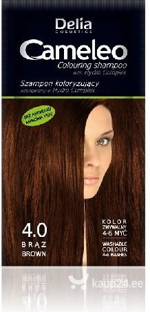 Tooniv šampoon Delia Cosmetics Camelio 40 ml, 4.0 Brown