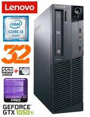 Lenovo ThinkCentre M82 SFF i3-2120 32GB 240SSD+2TB GTX1050Ti 4GB WIN10Pro