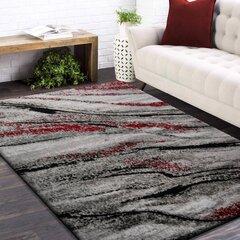 Ковер серый/красный 160x220см цена и информация | Коврики | kaup24.ee