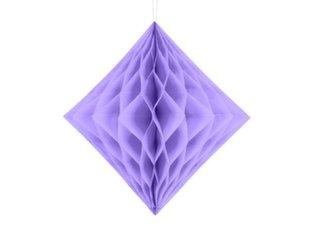 Rippuv dekoratsioon Diamond 20 cm, Sireli värv, (1 pakk/1 tk)