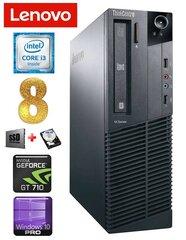 Lauaarvuti Lenovo ThinkCentre M82 SFF i3-2120 8GB 120SSD+500GB GT710 2GB WIN10Pro
