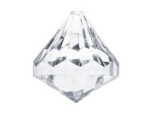 Dekoratsioon-ripats Diamonds, 39x42 mm, läbipaistev, 1 pk/5 tk