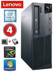 Lauaarvuti Lenovo ThinkCentre M82 SFF i3-2120 4GB 120SSD+500GB GT710 2GB WIN7Pro