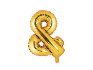 Fooliumist õhupallid &, 35 cm, kuldne, 50 tk.
