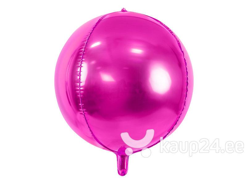 Fooliumist õhupallid Ball 40 cm dark, roosa, 50 tk.