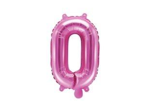 """Fooliumist õhupallid Täht """"O"""" 35 cm, roosa"""