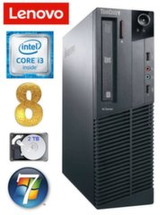 Lauaarvuti Lenovo ThinkCentre M82 SFF i3-2120 8GB 2TB WIN7Pro