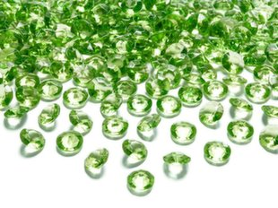 Konfetid Diamond 12 mm (1 pakk/100 tk.), roheline