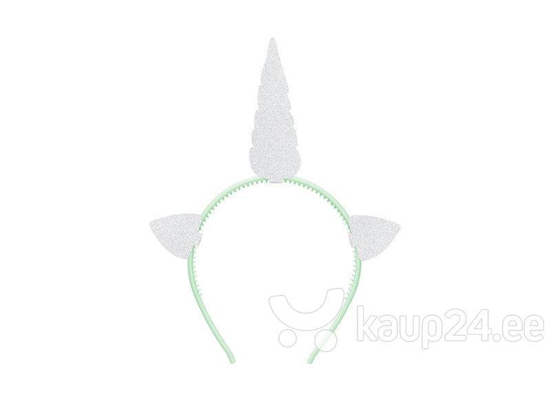 Ободок Unicorn, серебряного цвета, 1 уп./1 шт