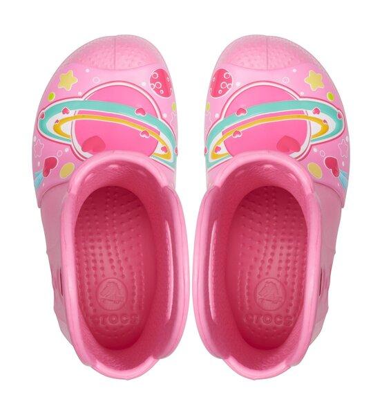 Laste kummikud Crocs™ FunLab Galactic Hearts, Pink Lemonade