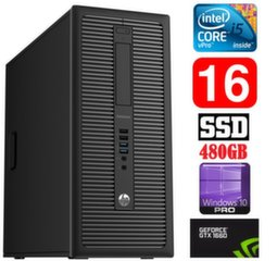 HP 600 G1 MT I5-4590 16GB 480SSD GTX1660 6GB WIN10Pro