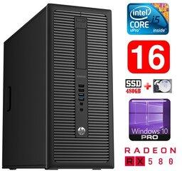 HP 600 G1 MT I5-4590 16GB 480SSD+2TB RX580 8GB WIN10Pro