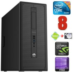 HP 600 G1 MT I5-4590 8GB 120SSD+1TB GTX1660Ti 6GB WIN10Pro