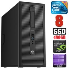 HP 600 G1 MT I5-4590 8GB 480SSD GTX1660Ti 6GB WIN10Pro