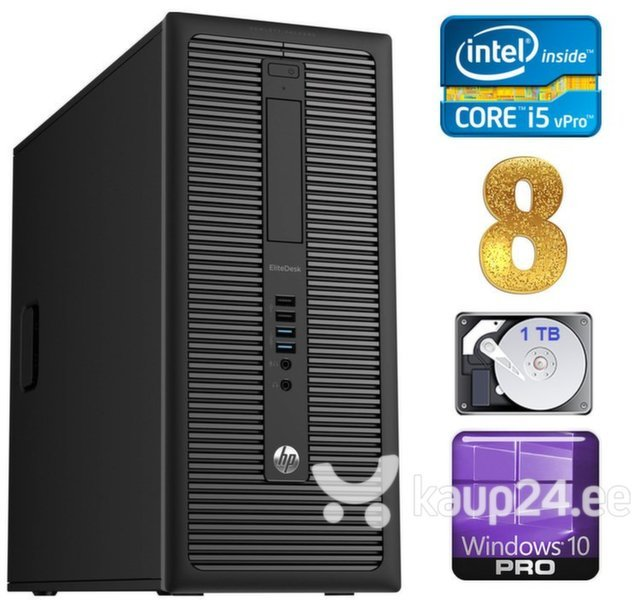 HP 600 G1 MT I5-4590S 8GB 1TB WIN10Pro