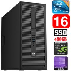 HP 600 G1 MT I5-4590S 16GB 480SSD GTX1660Ti 6GB WIN10Pro