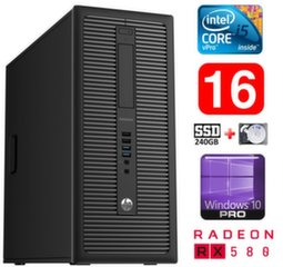 HP 600 G1 MT I5-4590S 16GB 240SSD+1TB RX580 8GB WIN10Pro