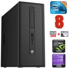 HP 600 G1 MT I5-4590 8GB 480SSD+2TB GTX1060 6GB WIN10Pro