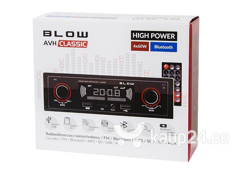 BLOW CLASSIC 78-287 auto stereo Bluetoothiga tagasiside