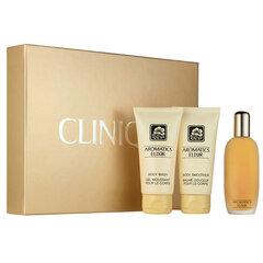 Komplekt Clinique Aromatics Elixir: parfüümvesi EDP naistele 45 ml + lõhnastatud ihupiim naistele 75 ml + lõhnastatud dušigeel naistele 75 ml