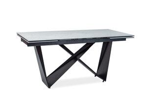 Pikendatav laud Cavalli II Ceramic, must/valge hind ja info | Köögi- ja söögilauad | kaup24.ee