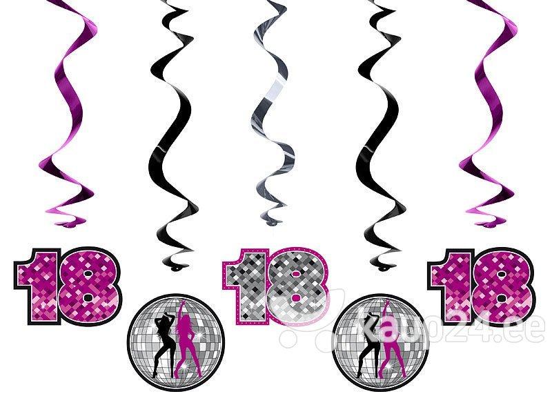 Висячие декорации 18th Birthday Mix 60 см (1 упаковка/5штук)