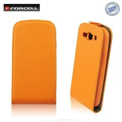 Kaitseümbris Forcell Flexi Slim Flip / Apple iPhone 4, 4S, Oranž